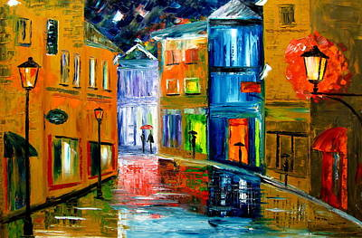 Colors Of The Night Art Print by Mariana Stauffer