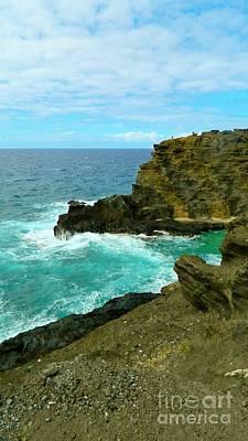 Halona Blowhole Photograph - Colors Of The Sea by Jennifer Boisvert