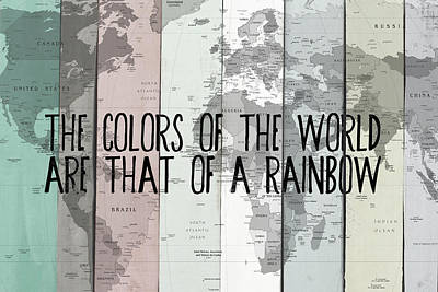 Colors Of The Rainbow Digital Art - Colors Of The World by South Social Studio