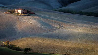 Farmhouse Wall Art - Photograph - Colors Of Tuscany Sunset by Marek Boguszak