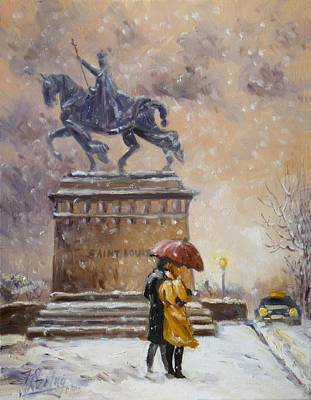 Painting - Colors Of Winter - Saint Louis by Irek Szelag