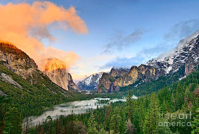 Snow. Mountain Photograph - Colors Of Yosemite by Jamie Pham