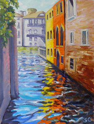 Painting - Colors On The Canal by Sharon Casavant