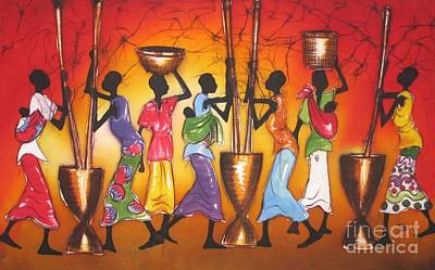 Malawi Painting - Colors by Ted Samuel Mkoweka