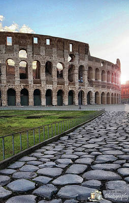 Coloseum Sunrise Art Print by Victor Walsh Photography