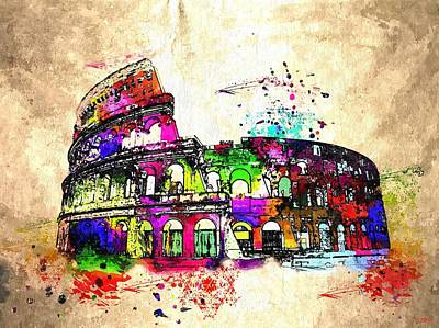 Colosseo Grunge  Art Print