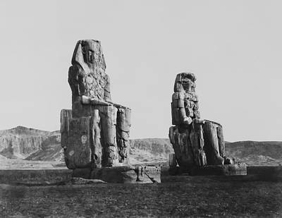 Pyramid Of The Sun Photograph - Colosses Of Thebes - 1851 by Daniel Hagerman
