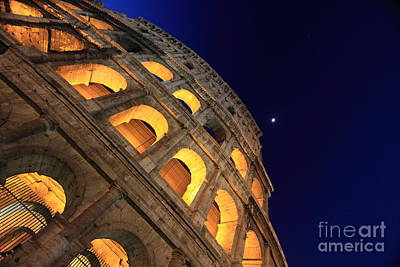 Colosseum At Night Art Print by Stefano Senise