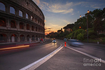 Colosseum At Sunset Art Print by Maria Feklistova