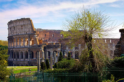Photograph - Colosseum In Spring by Walt  Baker