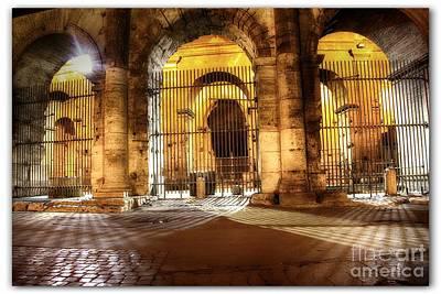 Colosseum Lights Art Print by Stefano Senise