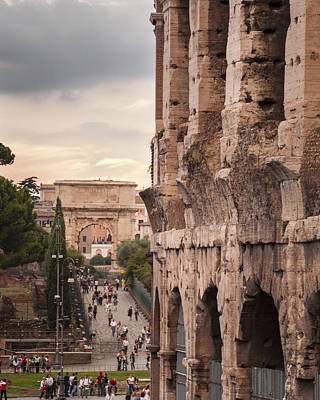 Photograph - Colosseum Rome Italy by Alex Saunders