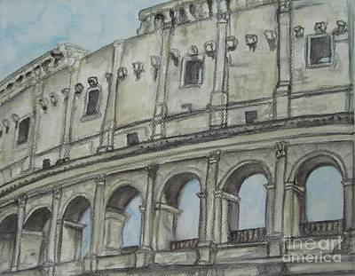 Painting - Colosseum Rome Italy by Malinda  Prudhomme