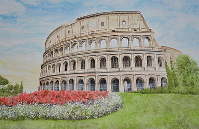 Tourist Site Painting - Colosseum by Swati Singh