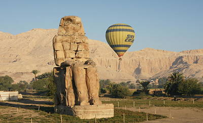 Photograph - Colossi Of Memnon by Christian Zesewitz