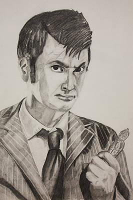David Tennant Drawing - Colossus Of Gallifrey  by Nick Vogt