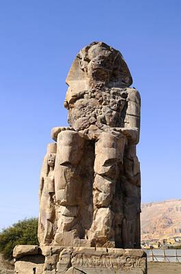 Colossus Of Memnon Egypt Art Print