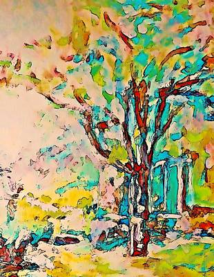 Colourful Cherry Tree Art Print