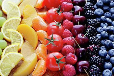 Colouful Selection Of Fruit Art Print by Gustoimages