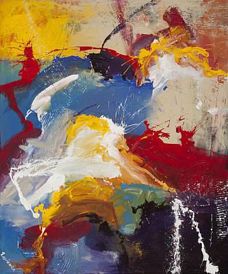 On Cavas Painting - Colour Dance by Jan Rasiewicz