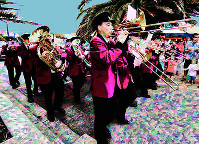 Marching Band Photograph - Colour Me Band by Steve Taylor