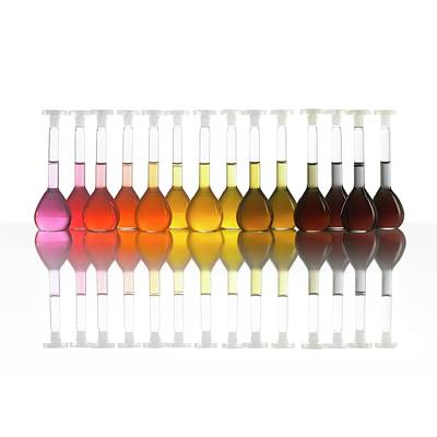 Colour Range Of Universal Indicator Print by Science Photo Library