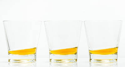 Photograph - Colour Whisky Glasses by Gary Gillette
