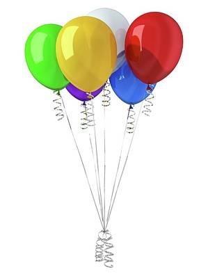 Bright Colours Photograph - Coloured Balloons by Leonello Calvetti