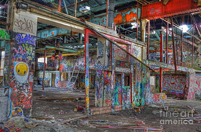 Photograph - Coloured Dereliction by David Birchall