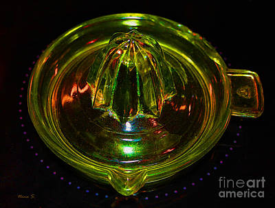 Photograph - Coloured Glass Juicer by Nina Silver
