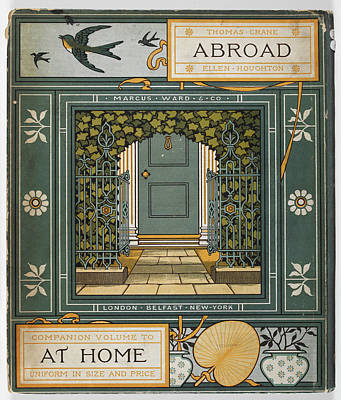 Abroad Photograph - Coloured Illustration Showing A Door by British Library