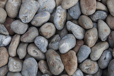 Art Print featuring the photograph Coloured Pebbles by Stewart Scott