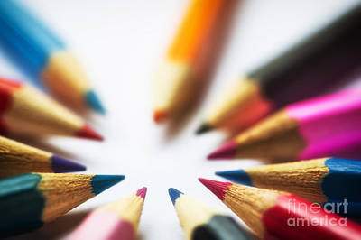 Photograph - Coloured Pencils by Jim Orr