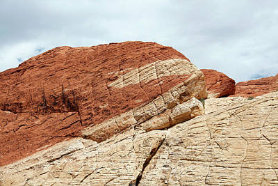 Red Sandstone Photograph - Coloured Sandstone by Michael Szoenyi