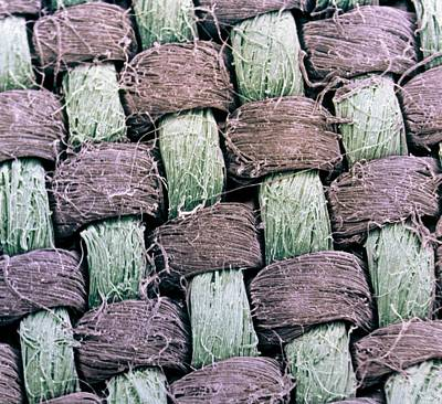 Linen Wall Art - Photograph - Coloured Sem Of The Weave Of Linen by Dr Jeremy Burgess/science Photo Library