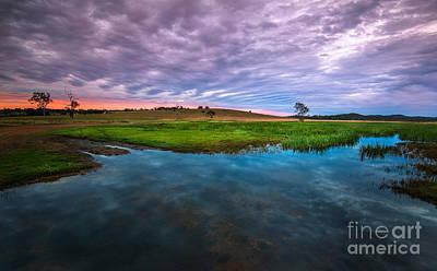 Colourfull Photograph - Coloured Sky by Michael Schurmann