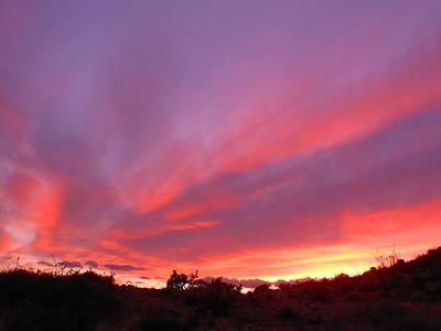Colourful Arizona Sunset Art Print