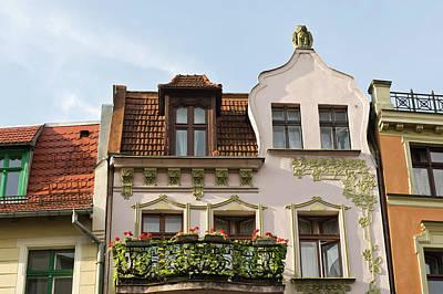 Balcony Photograph - Colourful Balcony On Wielkie Garbary by John Hay