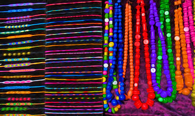 Colourful Bands And Beads Art Print by Roy Pedersen