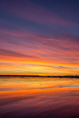 Photograph - Colourful Boundary Bay Sunset  by Pierre Leclerc Photography