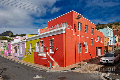 colourful buildings in Bo-Kaap Art Print by Juergen Ritterbach