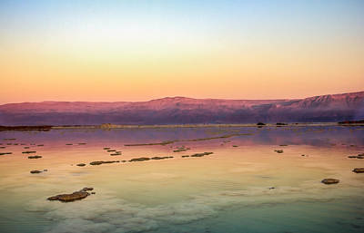 Amazing Stories Photograph - Colourful Dead Sea by Mark Perelmuter