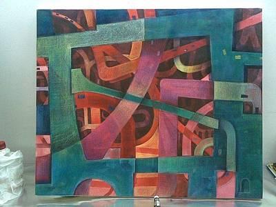 Painting - colourful Delhi by Auckel Vishal