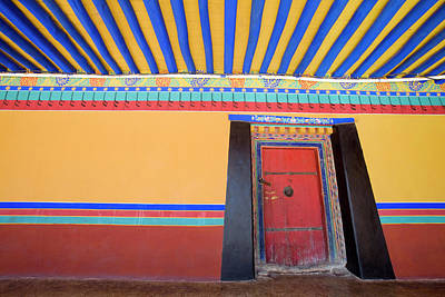 Photograph - Colourful Doorway And Surrounding Walls by Tim Hughes