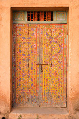 Colourful Entrance Door Sale Rabat Morocco Art Print by PIXELS  XPOSED Ralph A Ledergerber Photography