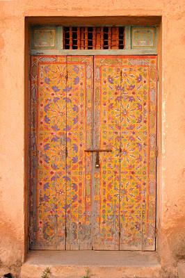 Colourful Entrance Door Sale Rabat Morocco Art Print by Ralph A  Ledergerber-Photography