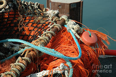 Colourful Fishing Nets Original by Frances Hodgkins