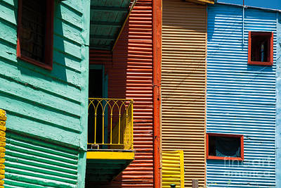 Colourful Houses In The Colourful Quarter Of La Boca - Buenos Air Art Print by OUAP Photography