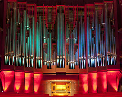 Musical Instrument Photograph - Colourful Organ by Jenny Setchell