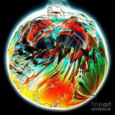 Digital Art - Colourful Planet by Bernard MICHEL